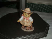 CHERISHED TEDDIES FIGURINE- SIERRA-COWGIRL WITH TOY COW