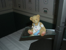 CHERISHED TEDDIES BEAR OF THE MONTH FIGURINE-AUGUST