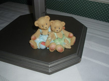 CHERISHED TEDDIES FIGURINE- TRAVIS AND TUCKER-BOY BEARS WITH TOYS