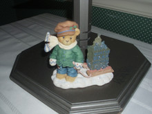 CHERISHED TEDDIES FIGURINE- JAMES- BOY PULLING SLED