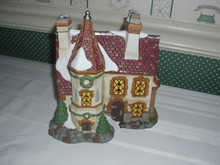 DEPT. 56 DICKENS VILLAGE PORCELAIN BUILDING WITH LIGHT CORD-VICTORIAN GRANGE HOUSE