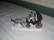 DEPT. 56 CHRISTMAS IN THE CITY-PORCELAIN ACCESSORY-CENTAL PARK CARRIAGE