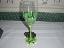 "2018 -ENESCO-LOLITA COCKTAIL COLLECTION-8 OZ  GLASS-""MINT FIZZ"""