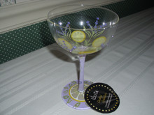 ENESCO-LOLITA COCKTAIL COLLECTION-9OZ GLASS-LAVENDER LEMONADE