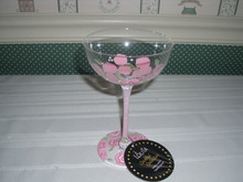 ENESCO-LOLITA-COCKTAIL COLLECTION -9 OZ-GLASS- PINK LADY