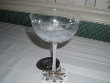 ENESCO-LOLITA COCKTAIL COLLECTION-9 OZ GLASS-FIRST SNOWFLAKE