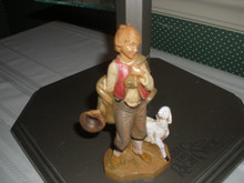 "FONTANINI 5"" COLLECTION VILLAGE FIGURINE-LUCAS-LITTLE BOY-NEW"