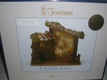 FONTANINI - GOLDEN COLLECTION 6 PIECE NATIVITY SET WITH MUSICAL ITALIAN STABLE-NEW2020