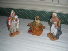 """FONTANINI 5"""" NATIVITY COLLECTION FIGURINES- THREE KINGS- NEW IN BOX"""