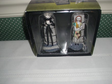 DISNEY CERAMIC SALT & PEPPER SET-JACK & SALLY FROM THE NIGHTMARE BEFORE CHRISTMAS-NEW IN BOX