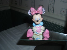 DISNEY TRADITIONS-JIM SHORE MINI MINNIE MOUSE WITH HEART FIGURINE-NEW IN BOX