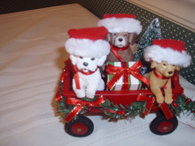 POSSIIBLE DREAMS CLOTHIQUE 2019 FULL WAGON WITH LIGHTED GARLAND-NEW IN BOX