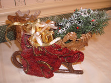 POSSIBLE DREAMS CLOTHIQUE ACCESSORY-REINDEER SLEIGH-NEW IN BOX.