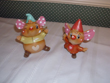 THE WORLD OF MISS MINDY PRESENTS-DISNEY'S JAQ 7 GUS FROM CINDERELLA- 2PC SET.
