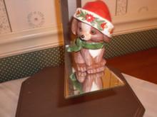 JIM SHORE HEART WOOD CREEK MINI FIGURINE- CHRISTMAS PUPPY. NEW IN BOX