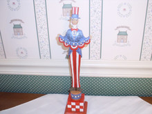 JIM SHORE HEARTWOOD CREEK-2018 PATRIOTIC FIGURINE-TALL UNCLE SAM-NEW IN BOX