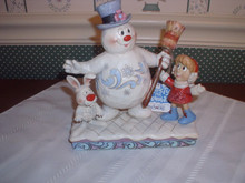 "JIM SHORE 2019-FROSTY THE SNOWMAN FIGURINE-""JOLLY HAPPY FRIENDS"" NEW IN BOX"