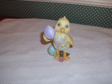 JIM SHORE-2019 MINI CHICK WITH EASTER EGG FIGURINE-NEW IN BOX
