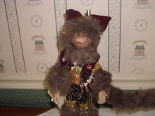 """MARK ROBERTS-2018 SMALL HALLOWEEN-MAGICAL MONKEY-C- AS SHOWN 12""""H. NEW IN BOX"""