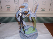 DISNEY TRADITIONS/JIM SHORE-THE NIGHTMARE BEFORE CHRISTMAS-JACK SKELLINGTON ON FOUNTAIN-NEW IN BOX