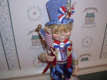 2019 MARK ROBERS SMALL I LOVE THE USA ELFIN-NEW IN BOX