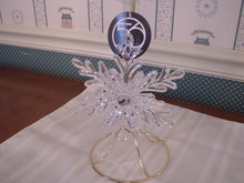 DEPT. 56 HOLIDAY ORNAMENT-CLEAR ACRYLIC SNOWFLAKE-NEW