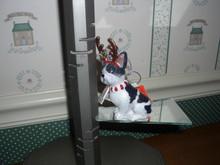 """KURT ADLER 4""""H NOBLE GEMS GLASS DOG ORNAMENT-FRENCH BULLDOG-NEW IN BOX"""