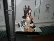"""KURT ADLER 4"""" NOBLE GEMS BLOWN GLASS DOG ORNAMENT- GERMAN SHEPHERD-NEW IN BOX"""