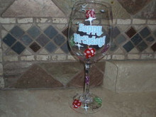 WESTLAND- HAPPY BIRTHDAY WINE GLASS-15OZ.NEW