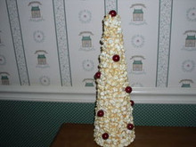 "K&K INTERIORS 15"" POPCORN & CRANBERRY  TREE-NEW"
