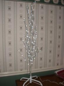 KURT ADLER- 4' LED TWIG TREE WITH WHITE BARK-NEW