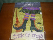 FLAGTRENDS-GLITTER TRENDS GARDEN FLAG-WITCH FEET-MIP