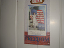 GALLERIE II -2019 AMERICANA -USA WALL PLAQUE-FREEDOM-NEW