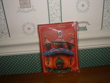 G.DEBREKHT-HANDCRAFTED IN USA-HALLOWEEN PUMPKIN HOUSE ORNAMENT