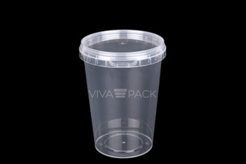 Soup Pot 670ml Crystal Clear pot with resealable lid, Material: Polypropylene, Food friendly, tamper proof, 100% leak proof, Microwave, dishwasher and freezer safe.