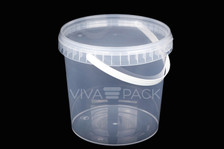 2000ml Crystal Clear pot with resealable lid, Material: Polypropylene, Food friendly, tamper proof, 100% leak proof, Microwave, dishwasher and freezer safe.