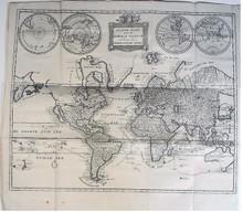 Rare Map: Conradi, Petrus after Pierre Mortier;  Platte Kaart van de Geheele Waereld om te Dienen tot de Nederlandsche Reizen. 1784