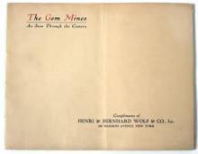 Rare Colorado Mining Book: Gem Mining Company; Gem Mines, Idaho Springs, Colorado: The Gem Mines as Seen Through the Camera.Circa 1918.