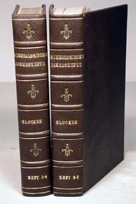 Book by Ernst Friedrich Glocker; Mineralogische Jahreshefte. Heft 1 and 2 and Supplement 1 and 2. Nuremburg, 1835, 1837, 1841.