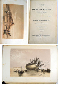 Book by Keppel, Capt. Henry; A Visit to the Indian Archipelago, in H. M. Ship Meander: with Portions of the Private Journal of Sir James Brooke, K.C.B. 2 volumes, London, Richard Bentley, 1853.