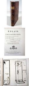 Rare Science Book by Saussure, Horace Benedict de, Essais sur L'Hygrometrie. Neuchatel, 1783.