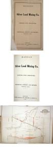 Rare mining book by Jackson, Charles T.; Manhan Silver Lead Mining Co., Hampshire County, Massachusetts, Boston, 1863.