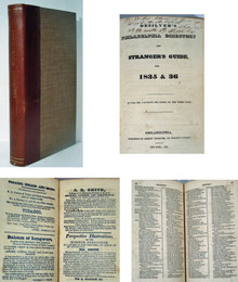 Rare Book by Robert DeSilver; Philadelphia Directory and Stranger's Guide for 1835 & 1836