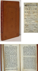 Rare Philosophy of Science Book, Jean Jacques Rousseau, Discourse at the Academy of Dijon