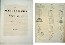 Rare mineralogy-gemology book, Wilhelm Haidinger; Uber den Pleochroismus der Krystalle