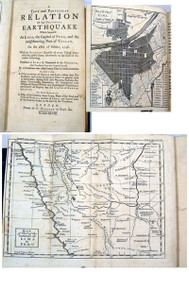 Rare Earthquake book, Lozano, Pedro; A True and Particular Relation of the Dreadful Earthquake Which happen'd at Lima, the Capital of Peru...1746.