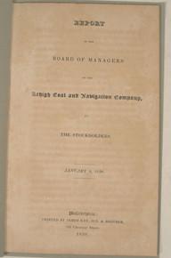 Rare Pennsylvania Anthracite Coal Mining Report, Joseph Watson, Report of the Lehigh Coal and Navigation Company, 1838