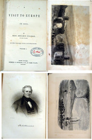 Rare geology and travel book, Silliman, Benjamin; A Visit to Europe in 1851. 2 volumes, New York, 1853.