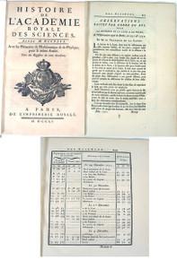 Rare Astronomy Book, Lelande, Joseph-Jerome Lefrancis de; Observations Faites par ordre du Roi, Pour la Distance de la Lune a la Terre, 1752.