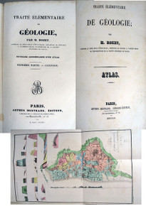 Rare geology-paleontology Book: Rozet, Claude Antoine; Traite Elementaire de Geologie.